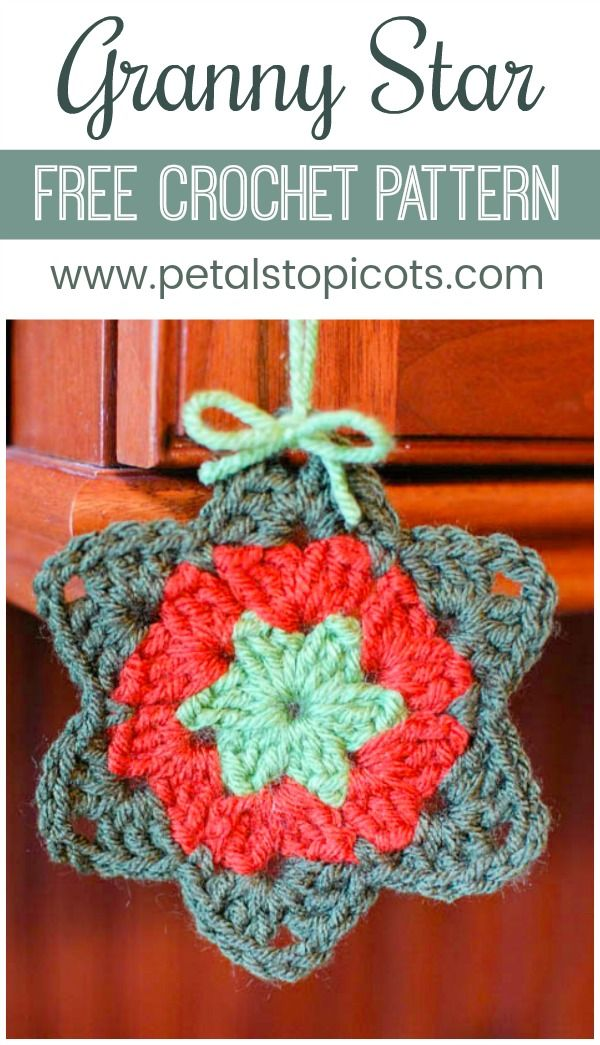 This free granny star crochet pattern has such a sweet story to go ...