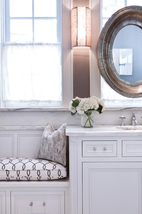 Vanity Bathroom Bench bathroom built in window seat   bathrooms   pinterest   window