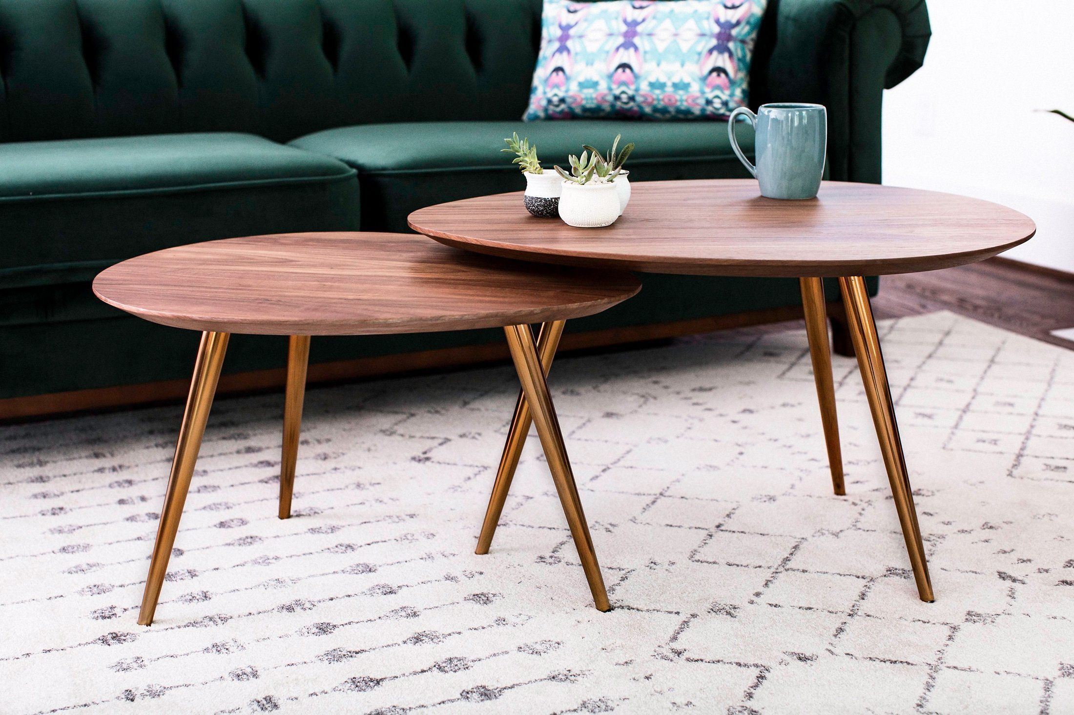Go Retro Chic With The Maddox Nesting Coffee Table Set And