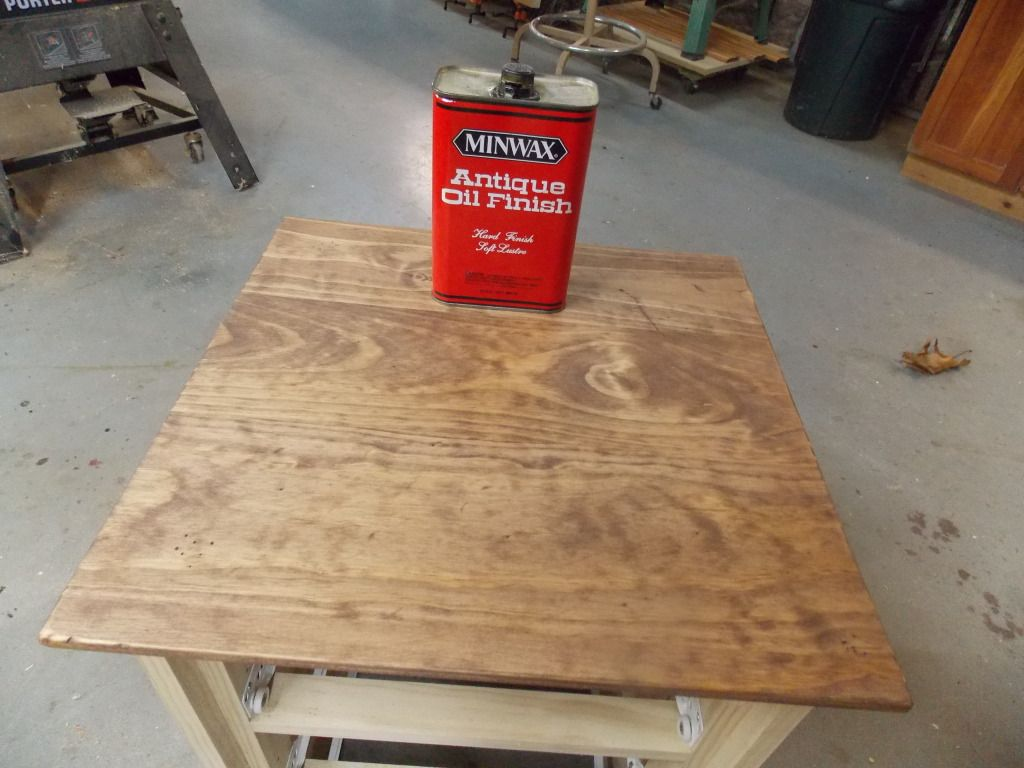 Learn how to use minwax wood finish and antique oil finish to bring a vintage vibe to a new piece of furniture