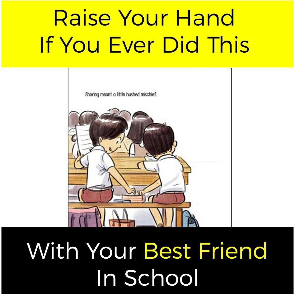 Yah I Did So But Unfortunately My Bestie Was Totally In Different Class But I Did So With Very Close F School Quotes Funny Some Funny Jokes Funny School Memes