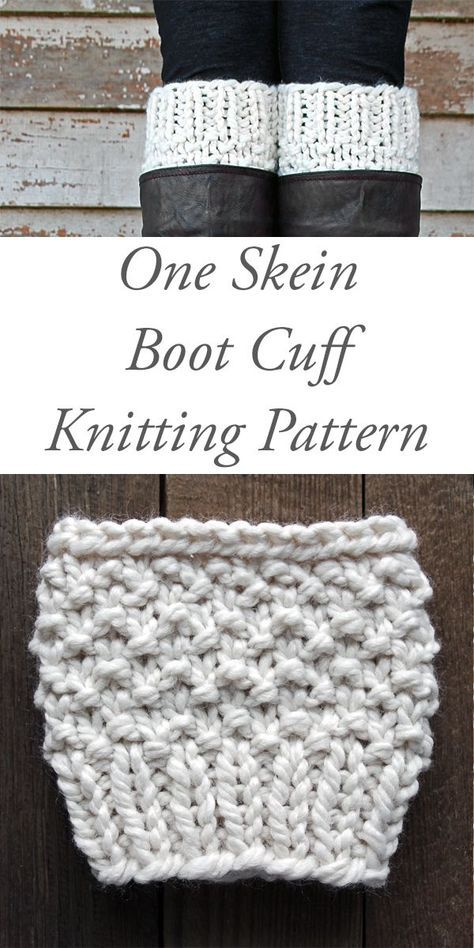 One Skein Boot Cuff Knitting Pattern Respect By Brome Fields