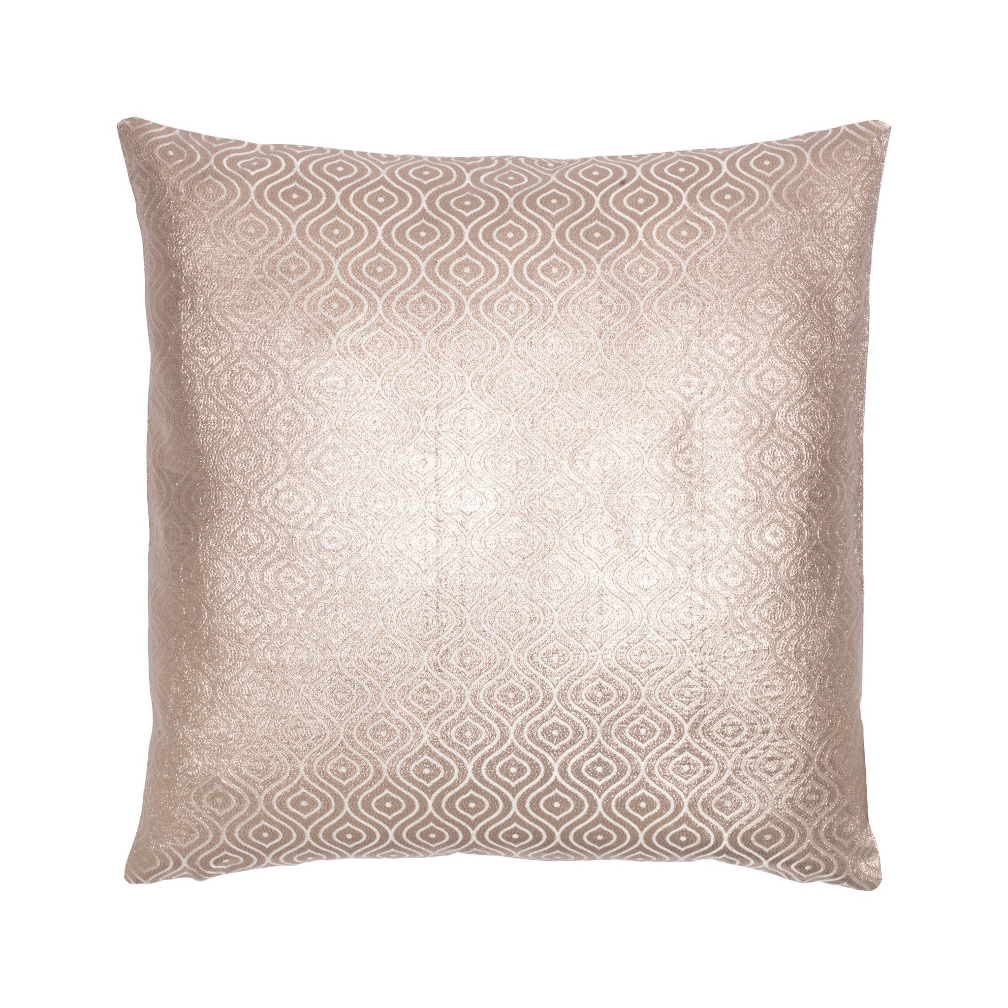 Cozy living cotton peacock foil embroidered copper cushion mohair