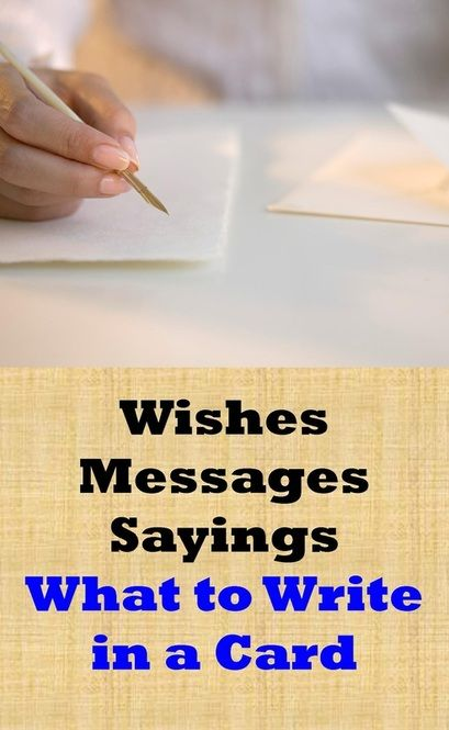 Examples Of Wishes Messages And Sayings For Most Occasions
