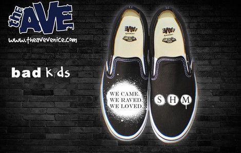 """Custom Swedish House Mafia """"We Came We Raved We Loved"""" sneakers!    #swedishhousemafia I WANT THESE!!!:D"""