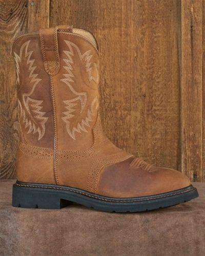 Men's Ariat® Sierra Saddle Square Steel Toe Boots, Aged Bark