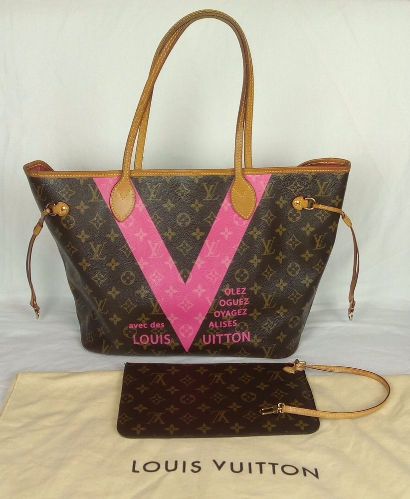 1e5a74fca2ee 100% Authentic LOUIS VUITTON Limited Edition Grenade Monogram V Neverfull  MM Bag  LouisVuitton  HandBag