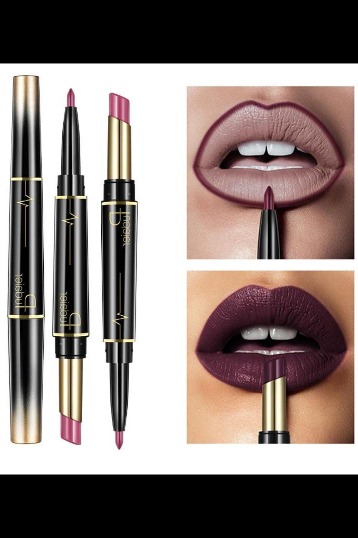 A 2 in 1 Long Lasting Waterproof Matte Lipstick Lip Liner