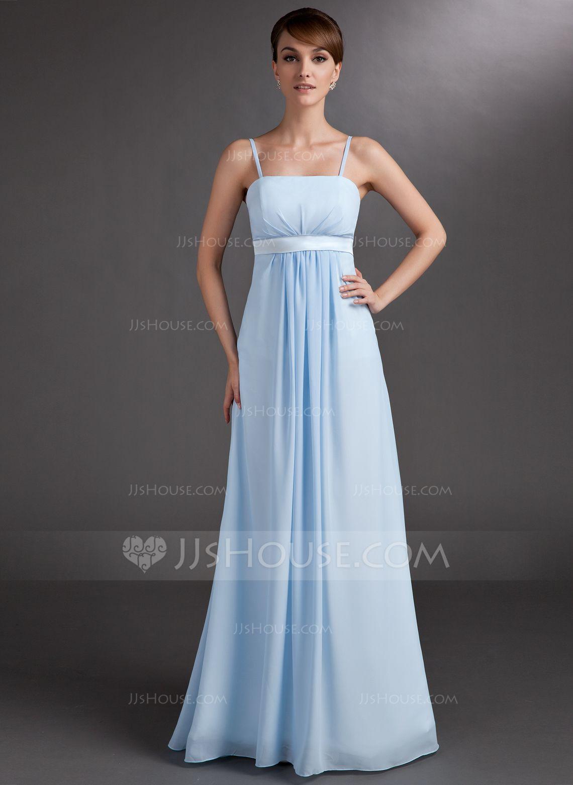 Empire Floor-Length Chiffon Chiffon Maternity Bridesmaid Dress With ...