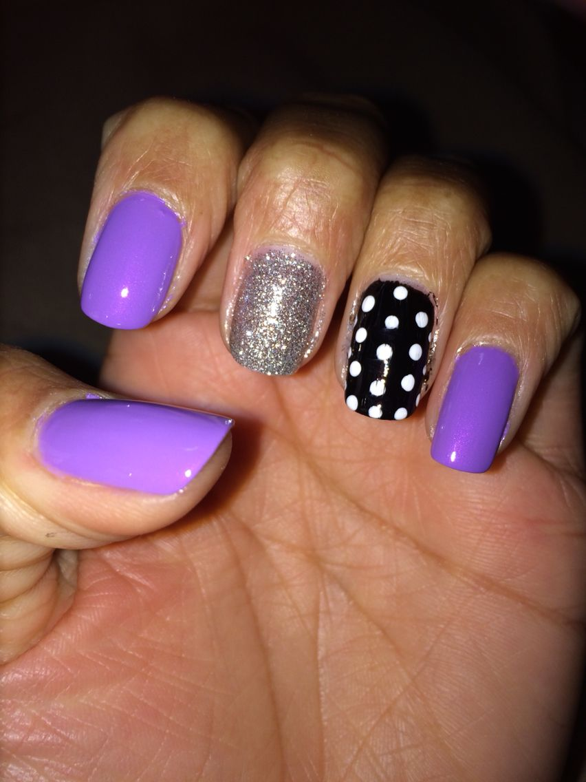Lilac nail design | My own nails | Pinterest | Lilac nails design ...