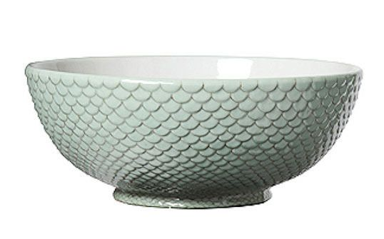 Celadon Bowl from Madison Avenue Gifts  via apartment therapy