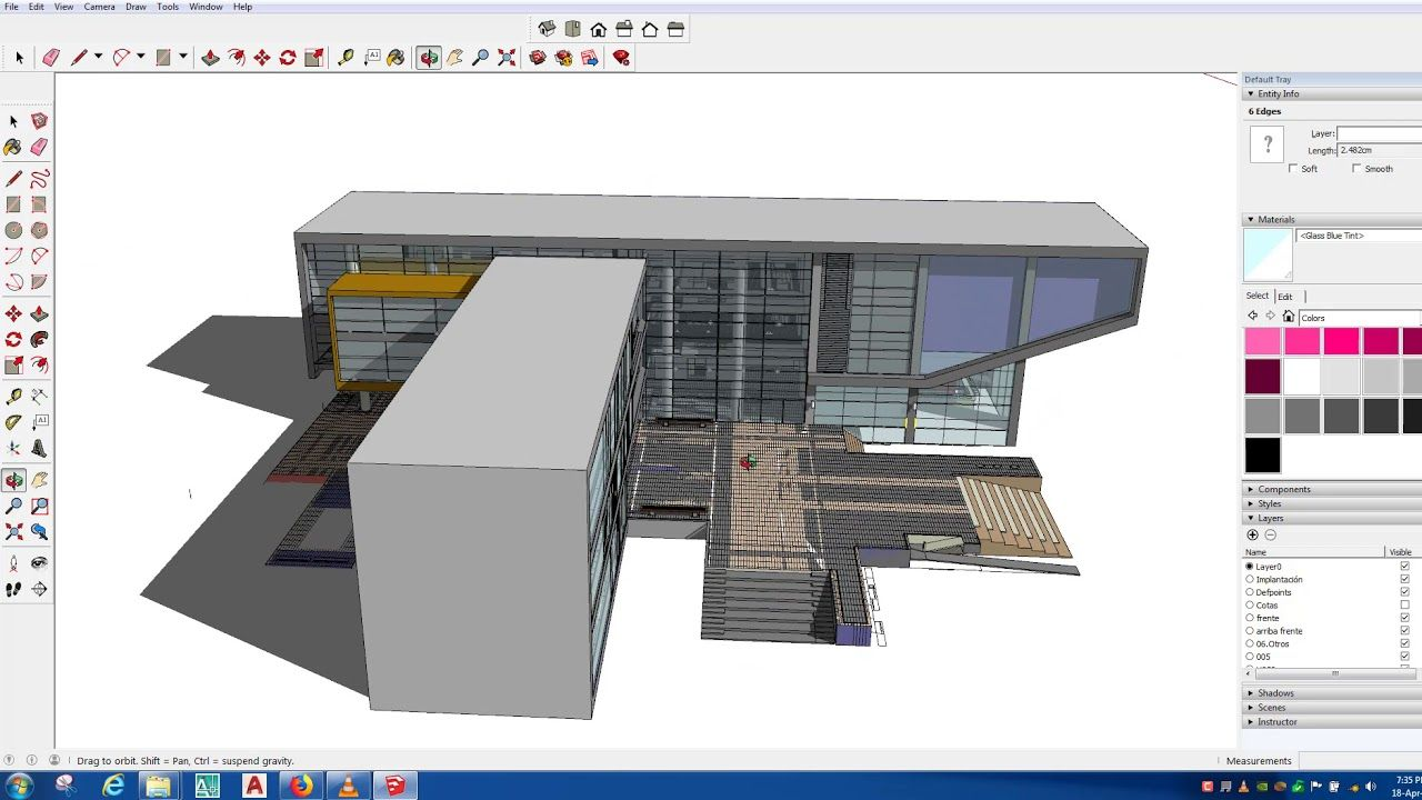 Sketchup Model Orbit Rotate Architecture Design Sketchup Sketchup