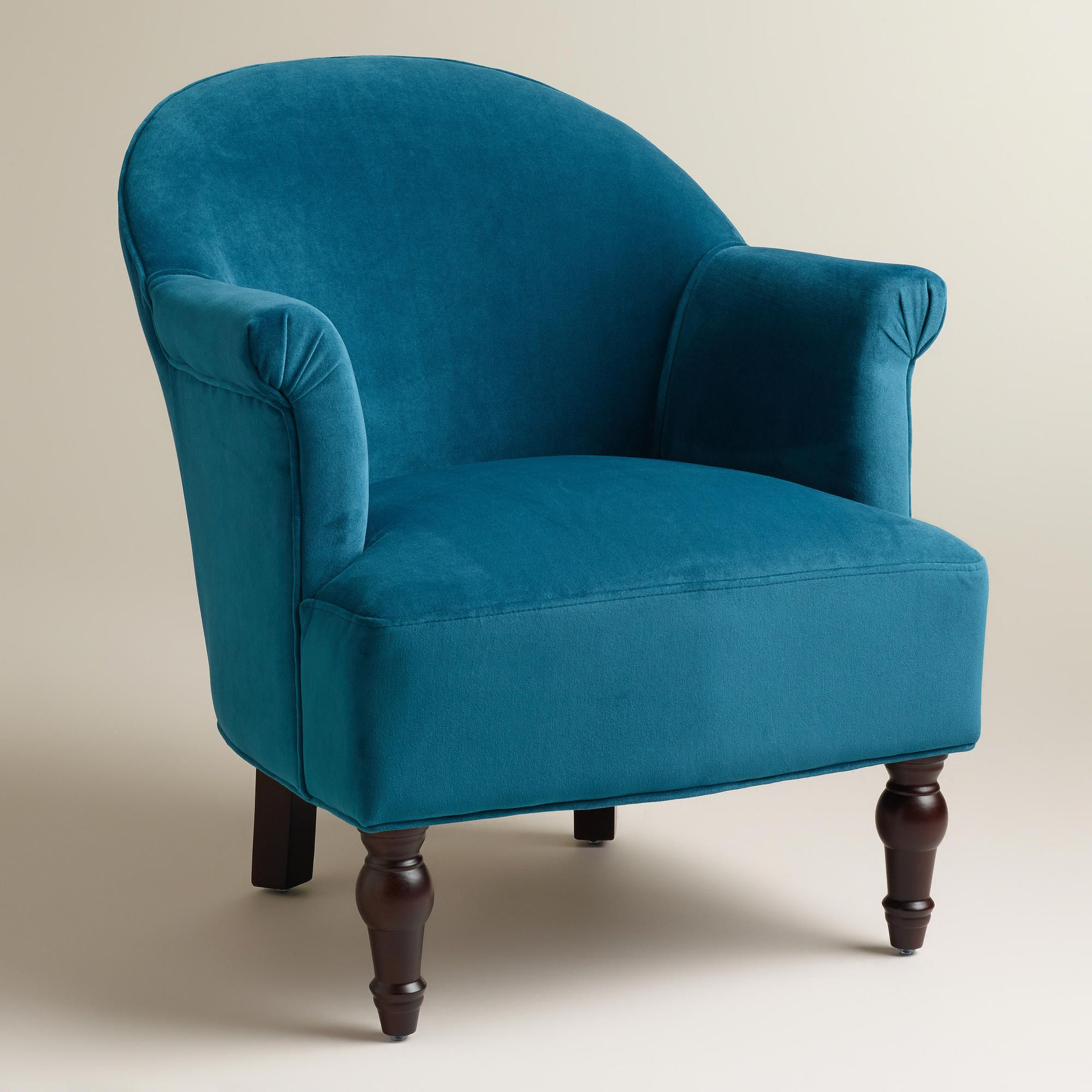 Peacock Blue Accent Chair Peacock Blue Lorna Chair World Market Living Room