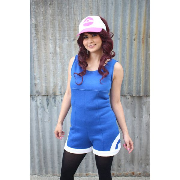 Blue Pokemon Go Romper Jumper Trainer Cosplay Costume Hoodie Jacket ($90) ❤ liked on Polyvore featuring jumpsuits, rompers, blue, jumpsuits & rompers, women's clothing, blue jump suit, playsuit jumpsuit, sleeveless rompers, romper jumpsuit and blue rompers