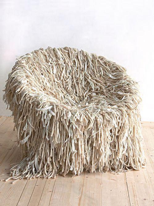 those seats i love...   Unusual furniture, Fabric ...