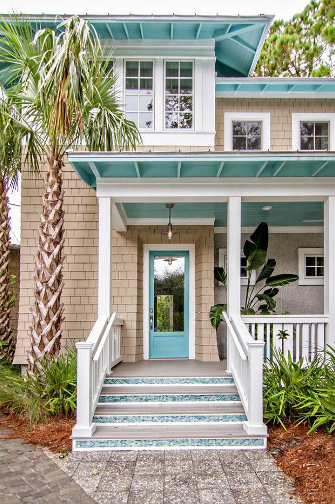 House Of Turquoise Glenn Layton Homes Beach House Exterior