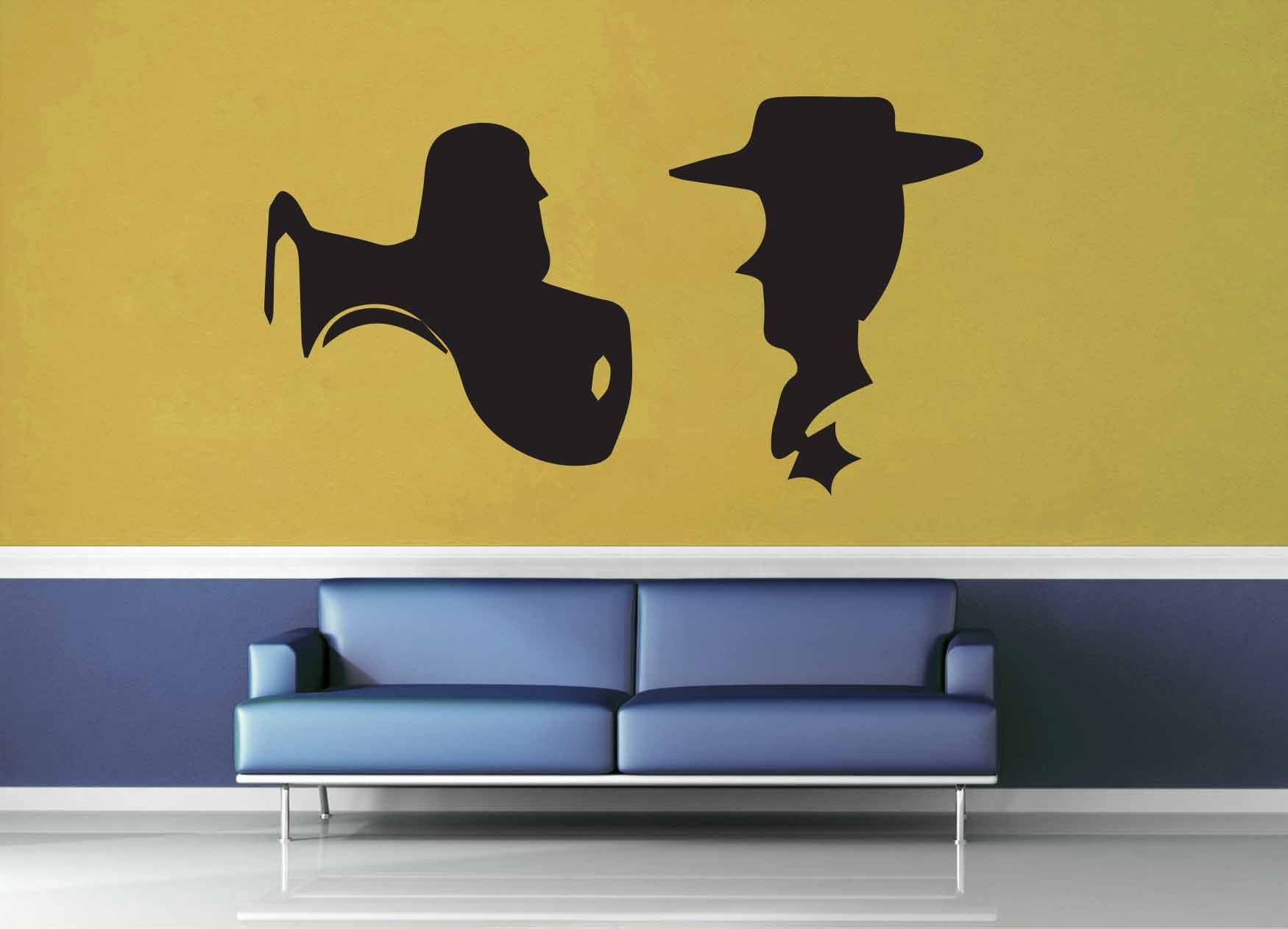 Buzz and Woody Silhouette Set - Wall Decal | Disney, Products and ...
