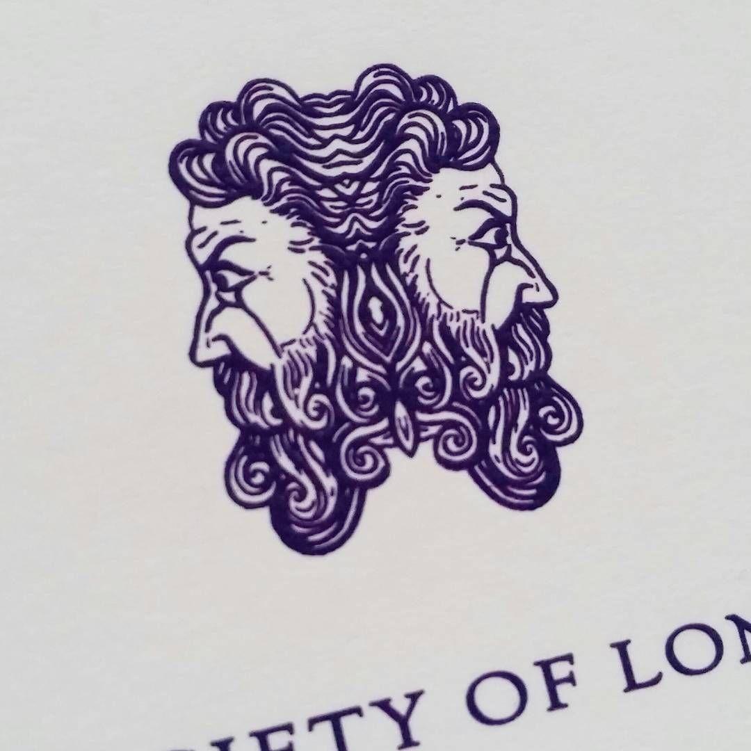 The Roman God Janus Engraved For An Invitation Grosvenor Stationery Aquarius Tattoo Flash Tattoo Janus