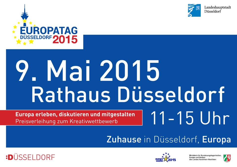 Habt Ihr morgen schon was vor? Von 11 bis 15 Uhr findet am 9. im Rathaus der Europatag statt: http://duesseldorf-fuer-kinder.de/blog/tipp/europatag-2015