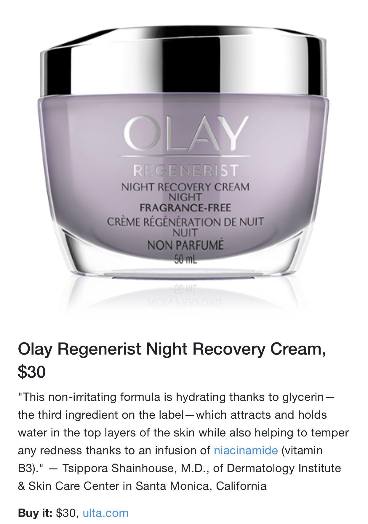 Pin By Briana Ruiz On Skin Beauty Fragrance Free Products Night Creme Olay Regenerist