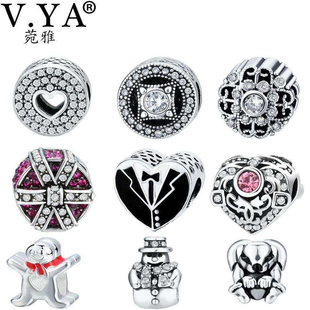 Vya amazing beads charms fit for pandora bracelets bangles womenus