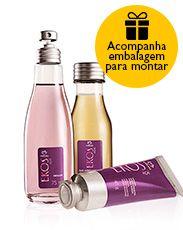 Presente Natura Ekos Açaí - Desodorante Colônia + Minióleo desodorante Corporal + Polpa + Embalagem Desmontada