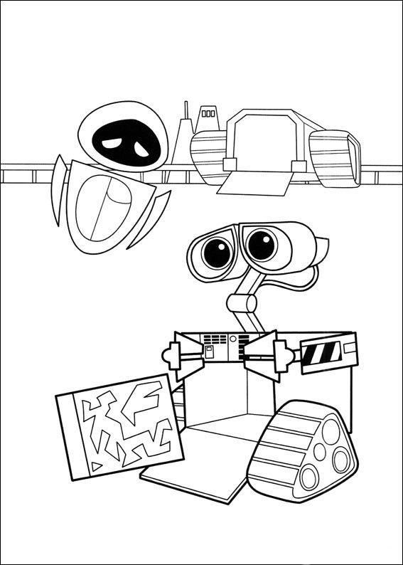 Dibujos para Colorear Wall-E 5   Wall-e y Eva   Pinterest   Colores ...