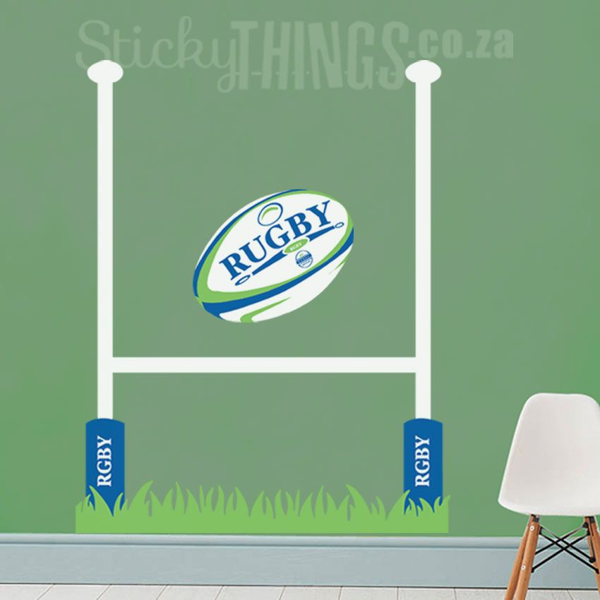 Rugby Vinyl Wall Decal - StickyThings.co.za