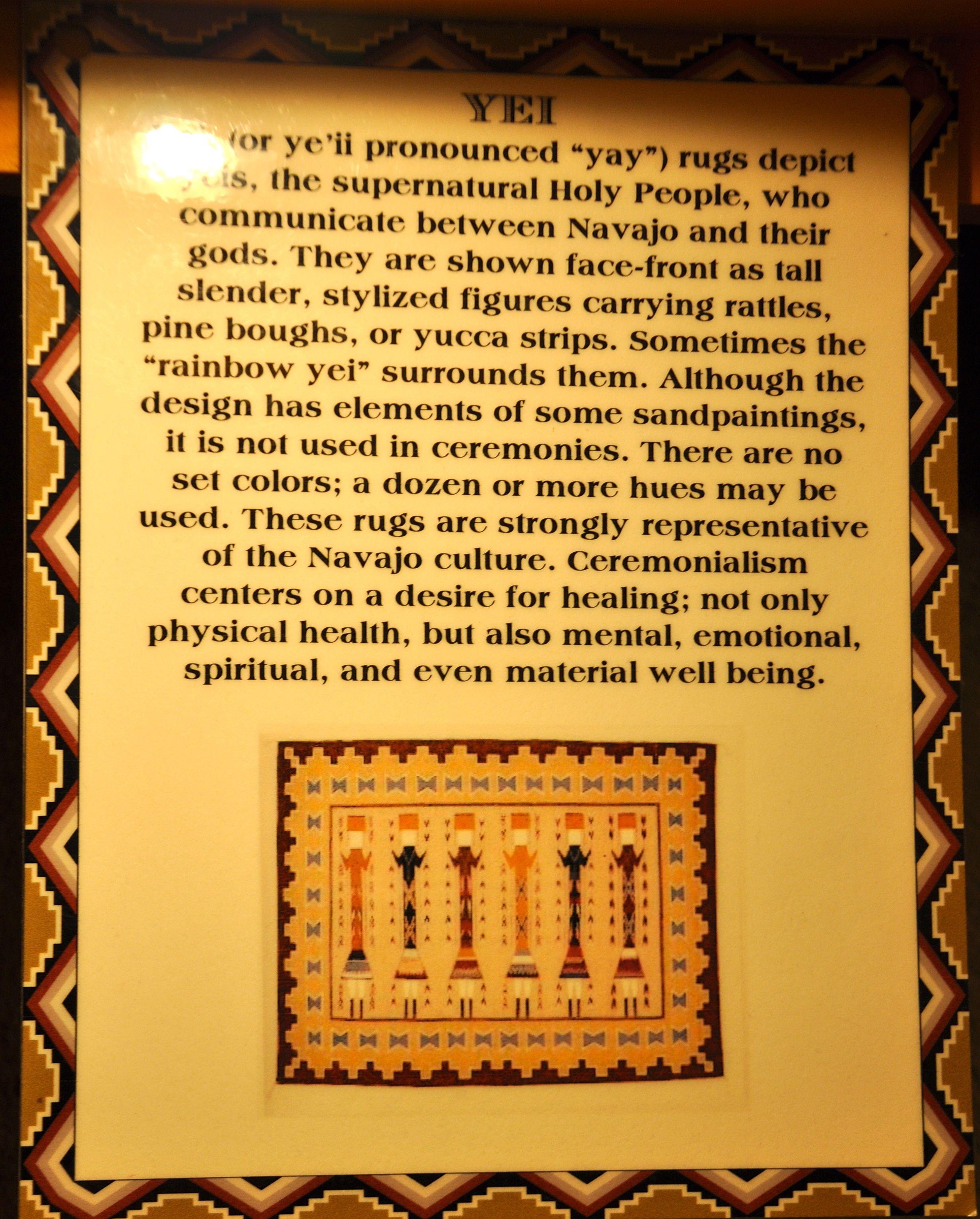 Explanation Of Symbols In Navajo Weaving At The Hopi House Navajo