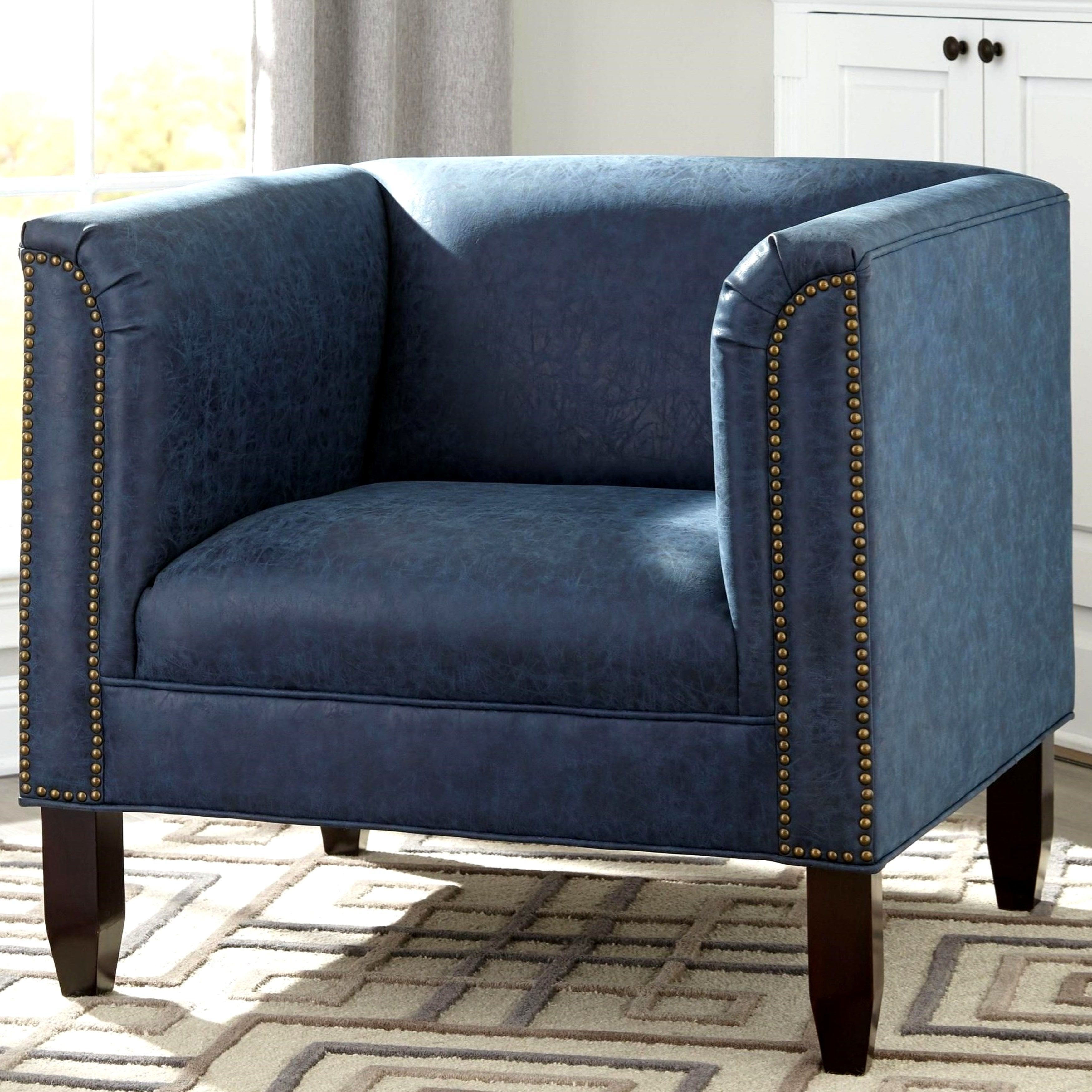 Best Modern Design Living Room Blue Accent Chair Blue Faux 640 x 480