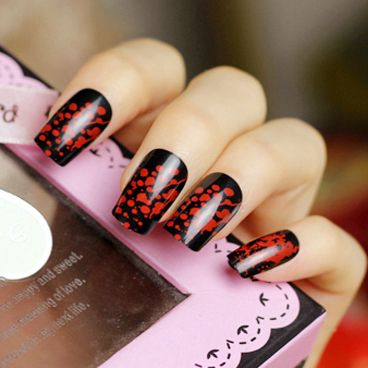 20 gorgeous red and black nails designs nail art im gonna try 20 gorgeous red and black nails designs european prinsesfo Gallery