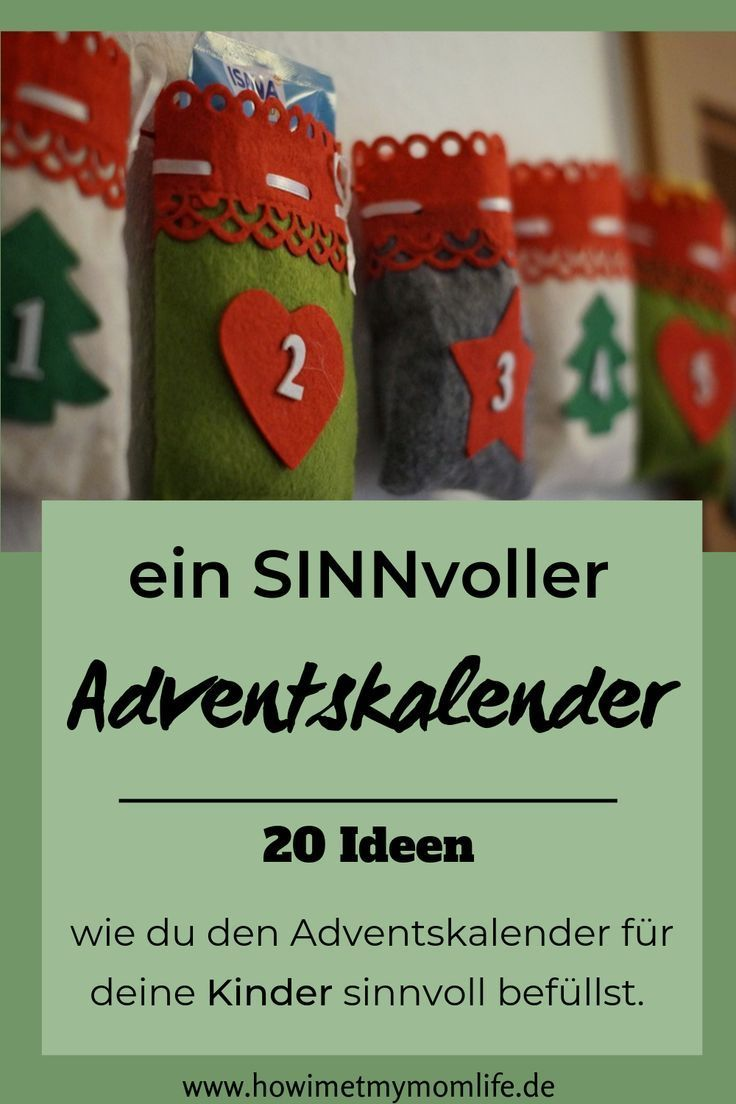 Sinnvolle Ideen für den Adventskalender - HOW I MET MY MOMLIFE