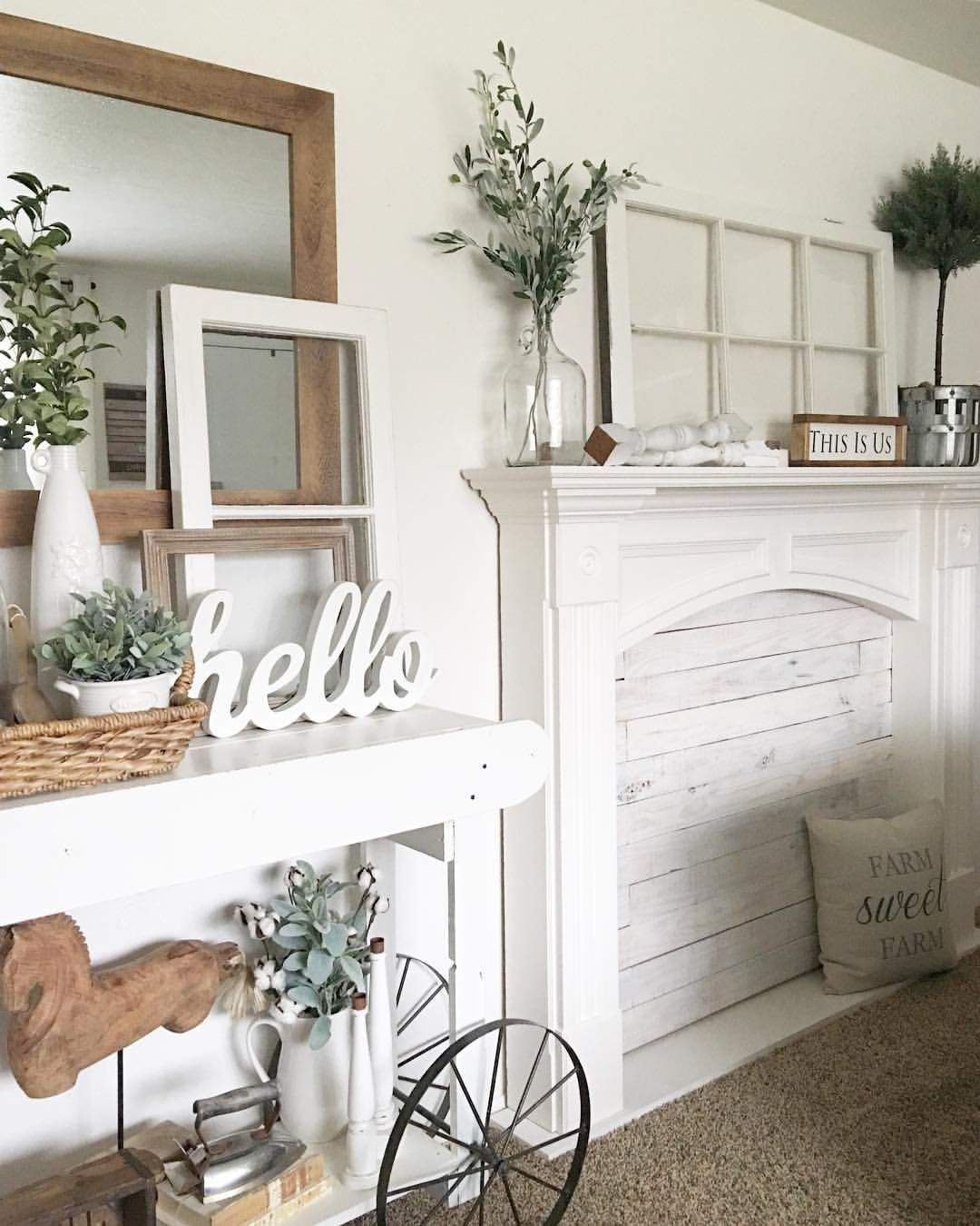 Faux Fireplace with shiplap