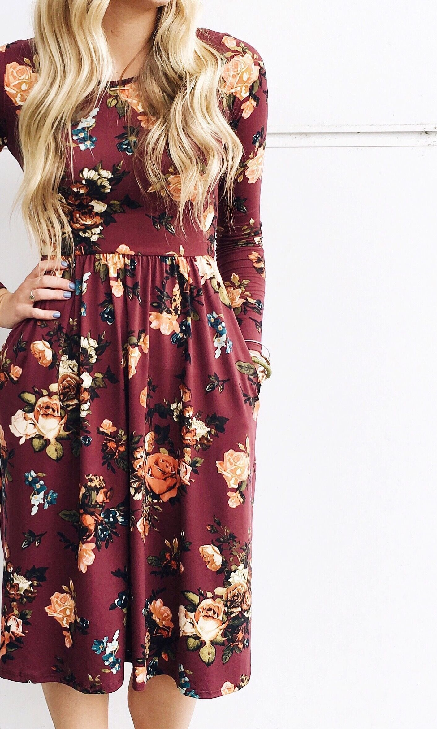 e222f8dffc45 Fall Florals | ROOLEE. Fall Florals | ROOLEE Long Sleeve Winter Dresses, Long  Floral Dresses, Fall Floral Dress