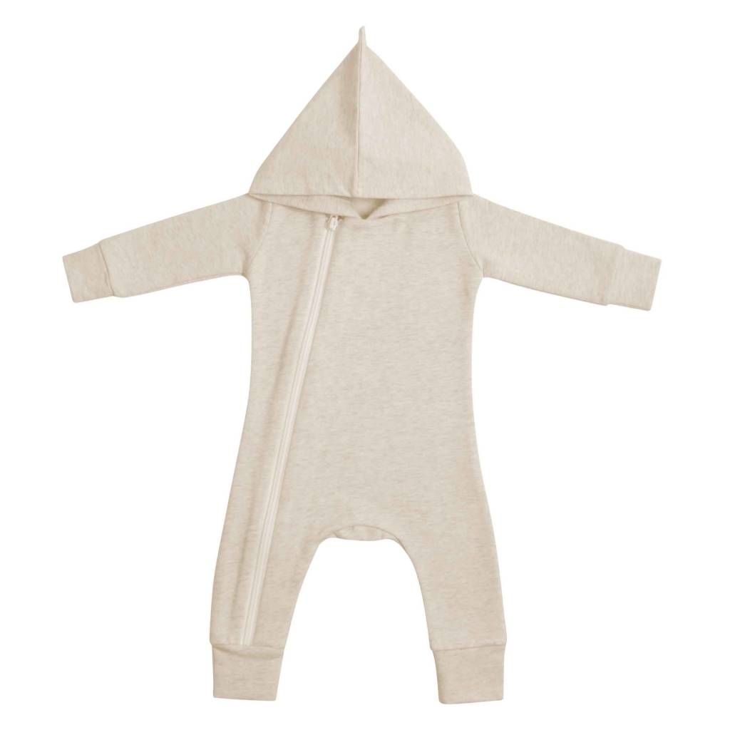 Hoody Zip Jumpsuit - Sand (NEW)