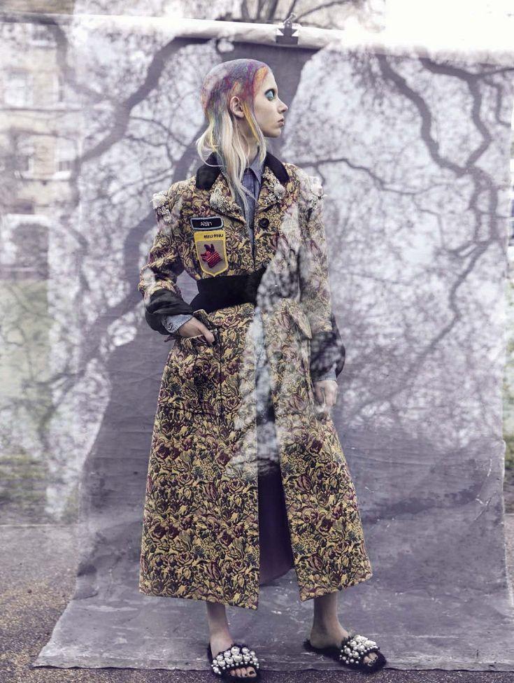 Ornamental Motifs -  Cheyenne Keuben by  Sølve Sundsbø for Vogue Italia September 2016