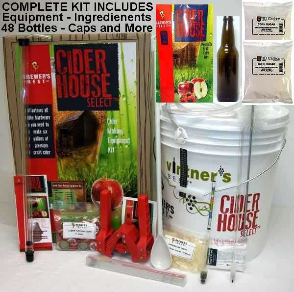 Complete #cider making kit from homebrewit.com. You won't believe the price! It includes all the equipment you'll need including bottles to make 6 gallons of cider. Great first kit for the new homebrewer and a great start to your setup for future kits!