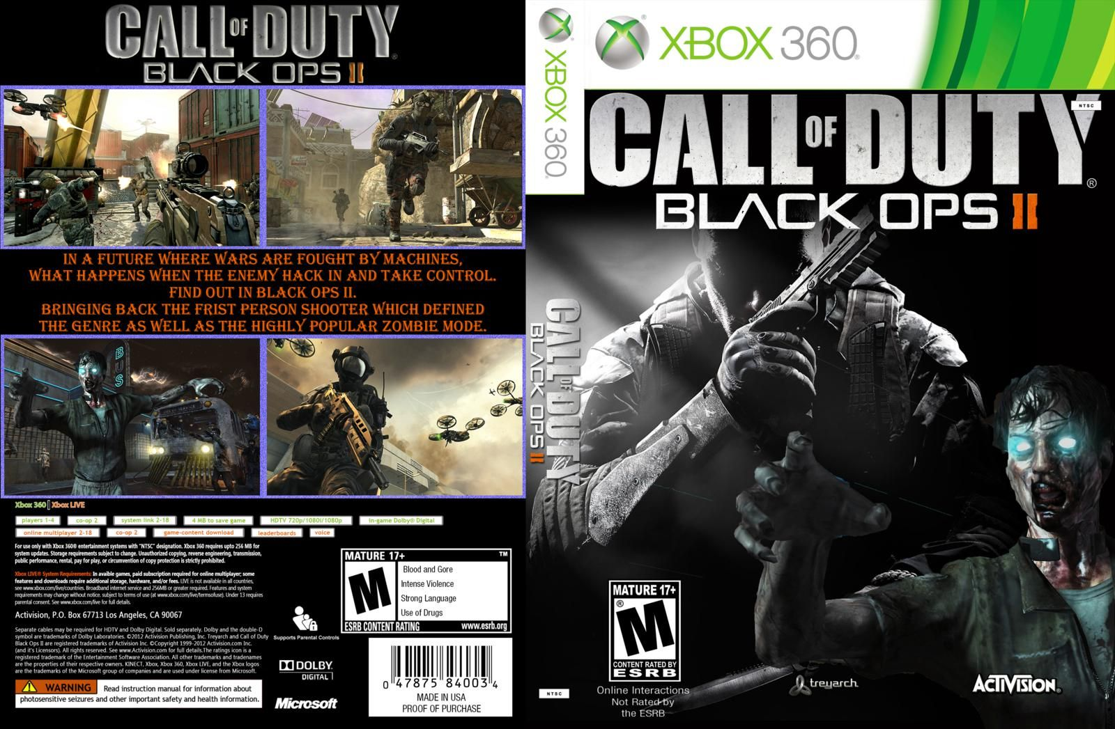 Call of duty black ops 2 xbox cover