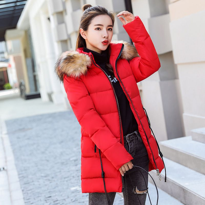 Cheap Parkas  KUYOMENS New Winter Jacket Women Faux Fur Hooded Parka Coats  Female Long Sleeve Thick Warm Snow Wear Jacket Coat Mujer c87baf7be8d0