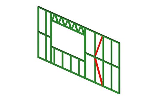K Bracing: Steel K-bracing, formed with FRAMECAD frame sections as ...