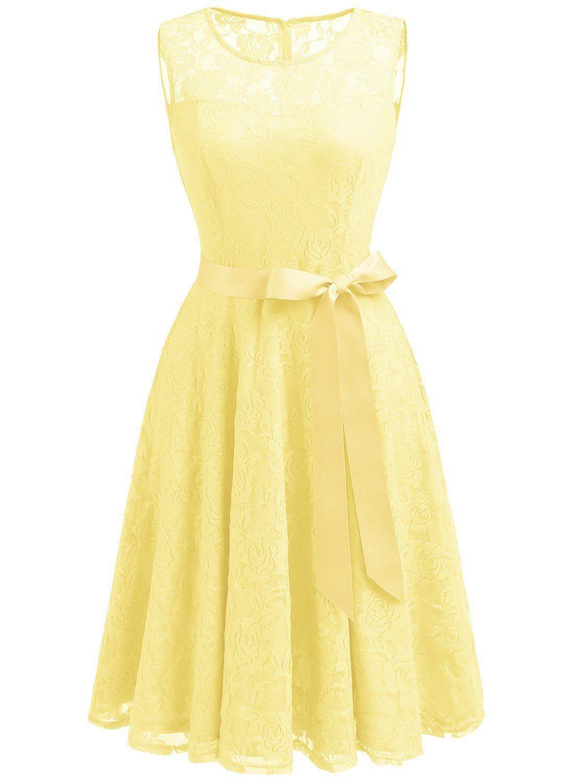 Dressystar ds womenus floral lace dress short bridesmaid dresses