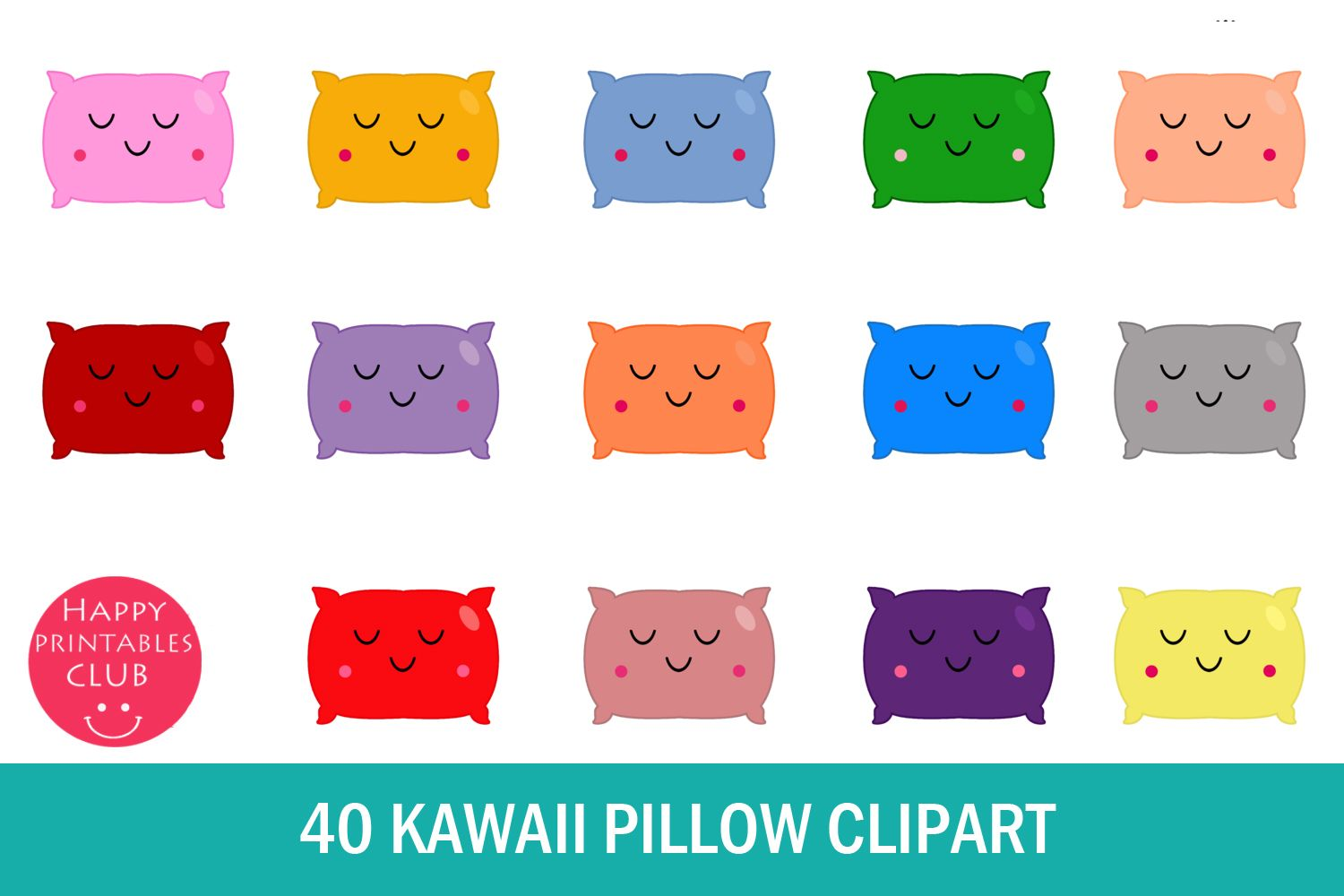 Kawaii Pillow Clipart Cute Pillow Png Graphic By Happy Printables Club Creative Fabrica