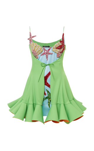 Crystal-Embellished Satin Mini Dress Shop the Crys