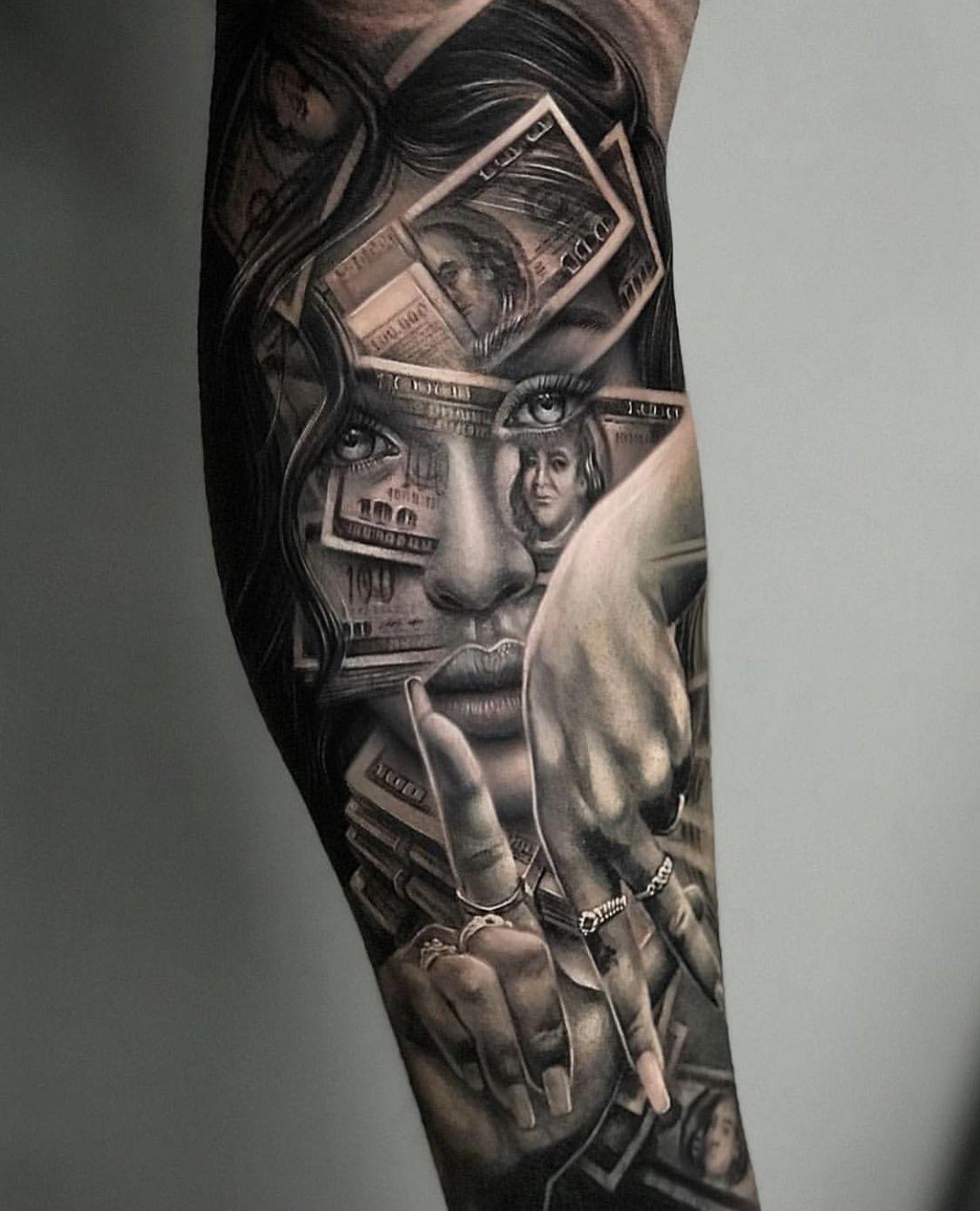 Tattoo Gangster Frauen Portrat Tatowierungen