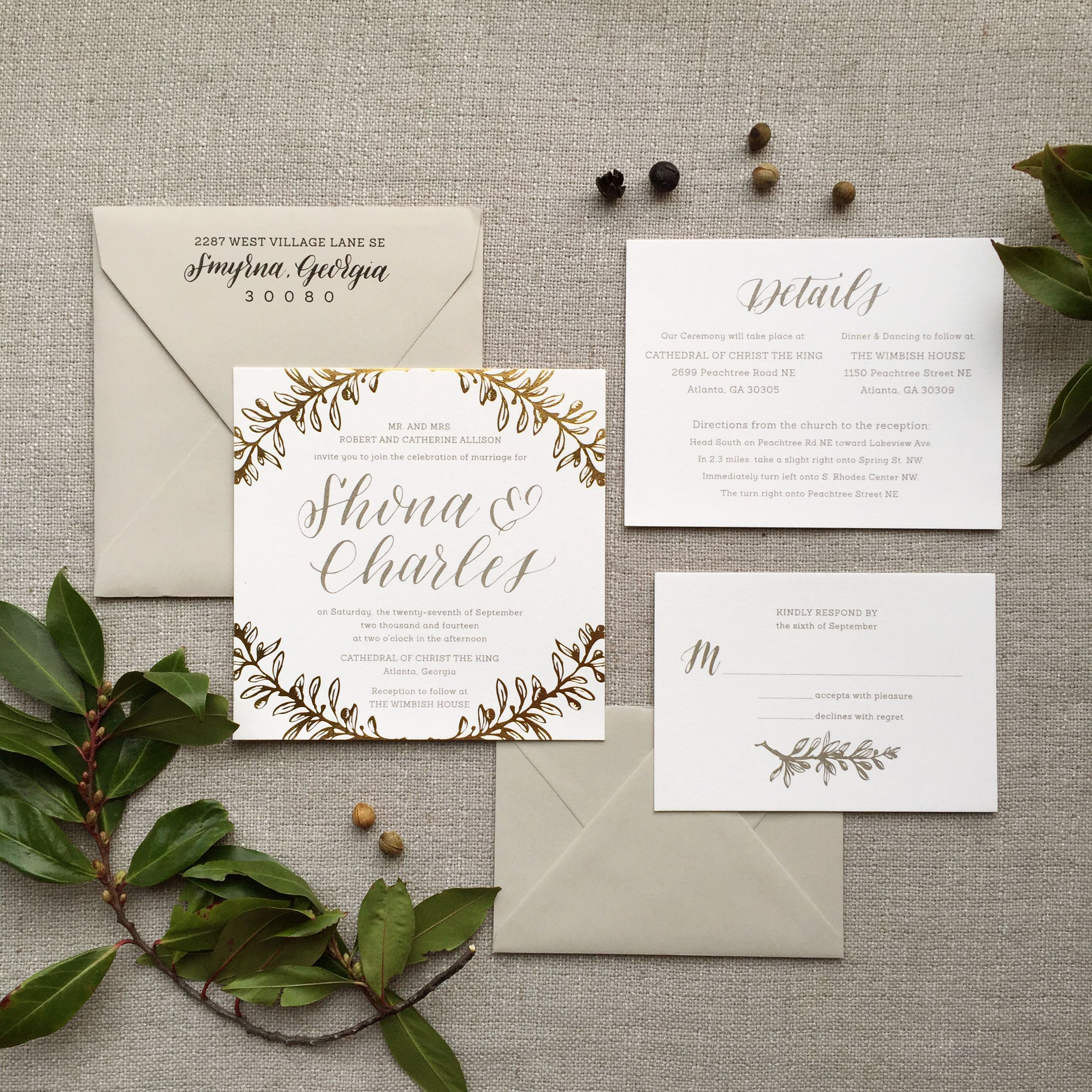 Ashley Buzzy Oliver Wedding Invitation Suite This Design Wraps A