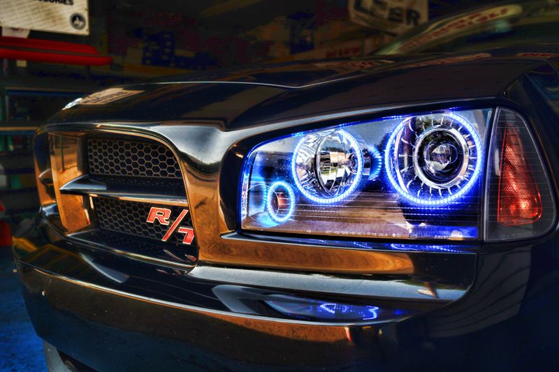 2008 Dodge Charger Rt Halo Ring Mr Kustom Auto Accessories And Customizing Dodge Charger Custom Muscle Cars Dodge Muscle Cars