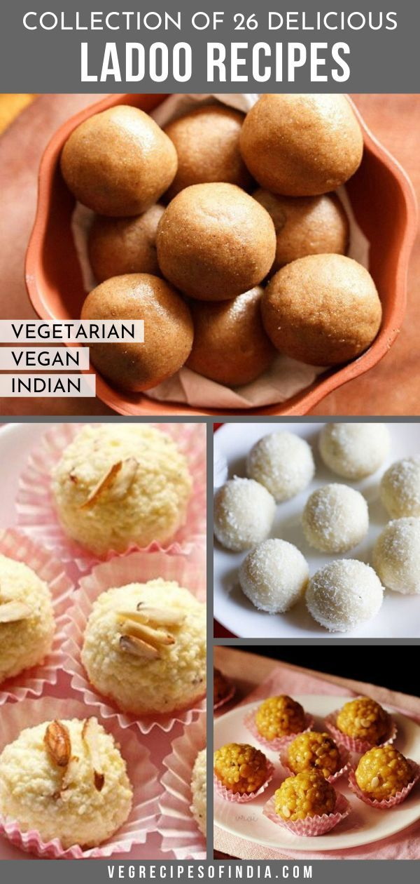 Ladoo in Indian food culture is almost like cookies in American food culture. There are SO many variations and flavors and they are almost always made during celebrations. These Indian sweets are often made for festivals like Diwali, Dussehra, and Ganesh Chaturthi. This collection of ladoo recipes is just a few of the most popular recipes from my blog which includes recipes for boondi, motichoor, coconut, rava, ragi, and moong dal ladoos. #vegan #vegetarian #Indiansweets #desserts #festivalfood
