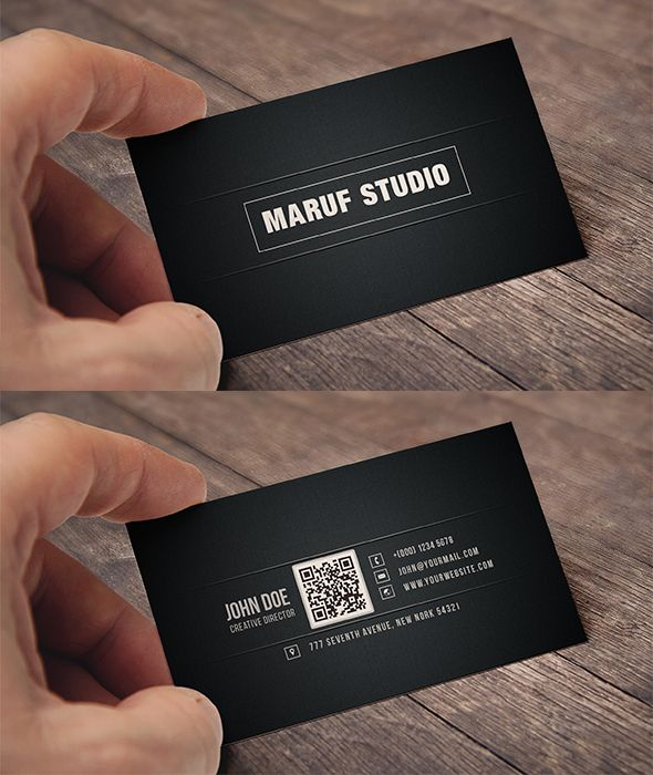 Blakish Simple Free Psd Business Card Is A Template Which Created For Both Of Those Corporate Enterprise And Personal Usage