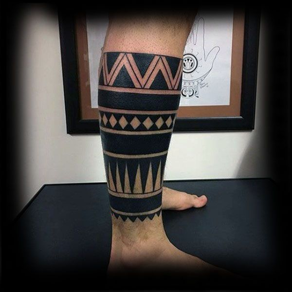 60 Tribal Leg Tattoos For Men Cool Cultural Design Ideas Leg Tattoo Men Leg Tattoos Tattoos For Guys