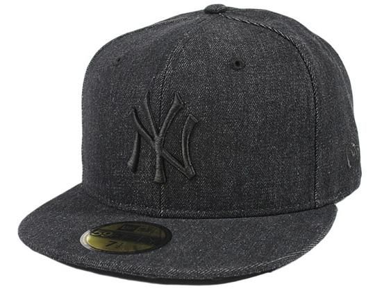 Black Denim New York Yankees Statue Of Liberty 59fifty Fitted Cap By New Era X Mlb Fitted Caps New York Yankees Fitted Baseball Caps